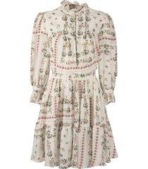 etro floral design crépe de chine dress