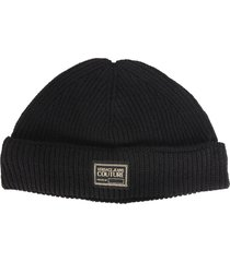 versace jeans couture small knit hat
