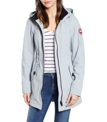 women's canada goose avery water resistant hooded softshell jacket, size small (4-6) - grey