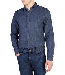 camisa azul tommy hilfiger elim prt nfh6