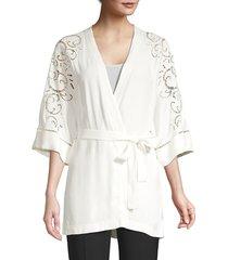 kobi halperin women's britney jacket - ivory - size xs/s