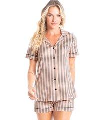 pijama abotoado curto listrado esther