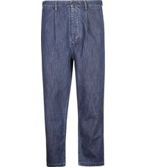valentino straight chambray jeans