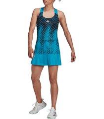 adidas primeblue tennis dress, size medium in sonic aqua at nordstrom
