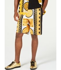 reason men's marble & gold shorts
