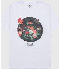camiseta blanco-multicolor levis