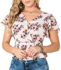 blusa angelica palo de rosa para mujer croydon