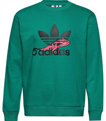 sweatshirt sweat-shirt trui groen adidas originals
