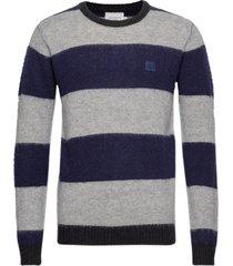 joel wool knit gebreide trui met ronde kraag blauw les deux