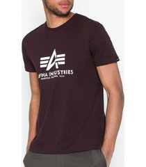 alpha industries basic t-shirt t-shirts & linnen maroon