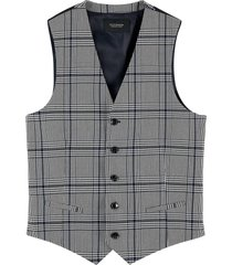 scotch & soda classic structured gilet blue check