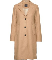 dad coat wool wollen jas lange jas beige abercrombie & fitch