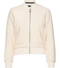 d1. jersey structure jacket sweat-shirt trui crème gant