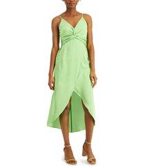 bar iii twisted high-low midi dress, created for macy's