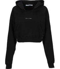 1017 alyx 9sm alyx logo-print cropped hoodie