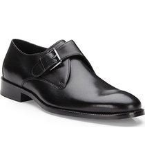 cole haan men's williams monk strap dress shoes - black - size 8.5 m