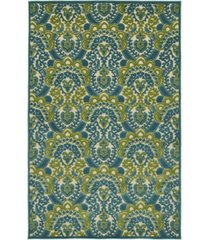 "kaleen a breath of fresh air fsr107-17 blue 2'1"" x 4' area rug"