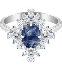 anillo con motivo palace, azul, baño de rodio 5513212