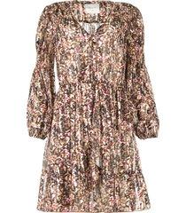 jurk met print en lurex belief  multi