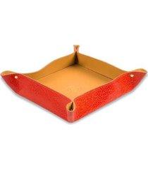 porta objetos em couro de mesa artlux unissex - unissex