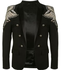 balmain embellished shoulders jacket - 0pa