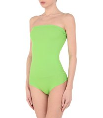 bini como one-piece swimsuits
