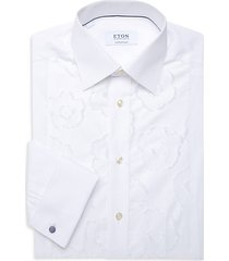 contemporary-fit floral embroidered button-down shirt