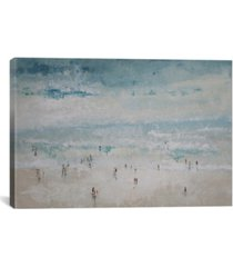 """icanvas the beach by claudio missagia wrapped canvas print - 26"""" x 40"""""""