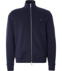 farah vintage bowmont zip sweatshirt | true navy | f4ksb031-412