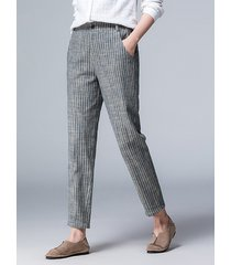 pantaloni formali a righe