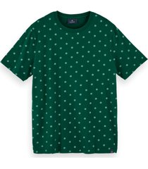 scotch & soda t-shirt stretch with allover print 159837 0222