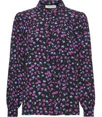 genia print shirt blus långärmad multi/mönstrad modström