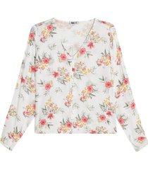 blusa con escote en v