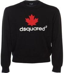 dsquared2 logo print ribbed sweatshirt