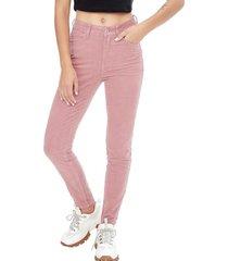 pantalon cotele i rosa corona