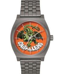 reloj time teller caballero gunmetal  nixon