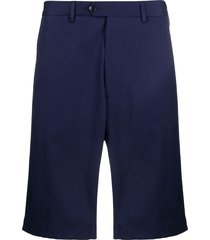 etro multi-pocket knee length bermuda shorts - blue