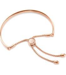 fiji friendship petite chain bracelet, rose gold vermeil on silver