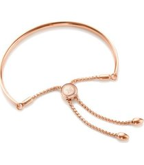 fiji friendship petite chain bracelet, rose gold vermeil on silver