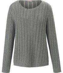 trui van 100% kasjmier met lange mouwen van include grijs