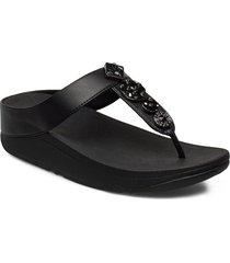fino circle toe-thongs shoes summer shoes flip flops svart fitflop