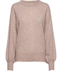 balloon sleeve sweater stickad tröja rosa davida cashmere