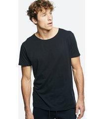 t-shirt med rund hals i bomull - svart