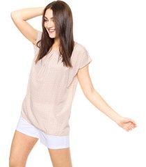blusa beige etam jeans lunares