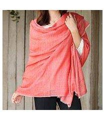 cashmere shawl, 'colors of leh' (india)