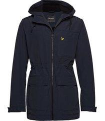 micro fleece lined jacket parka jacka blå lyle & scott