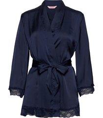petite kimono satin meili kimonos blå hunkemöller