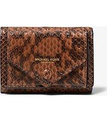 mk portafoglio piccolo in pelle di serpente - cuoio (marrone) - michael kors