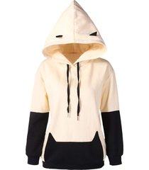 drop shoulder black cat hoodie