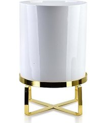 kwietnik metalowy osłonka ceramiczna blanco 28 cm